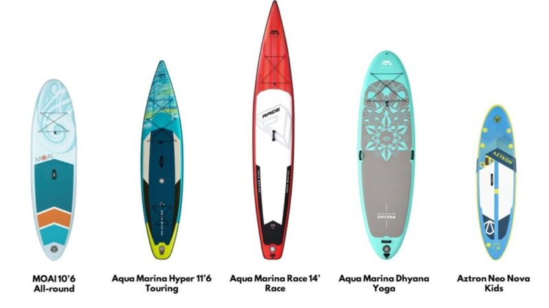 SUP board types