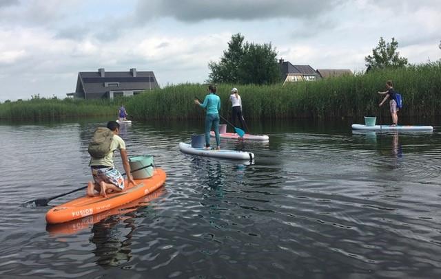 SUP clean-up Woldmeer